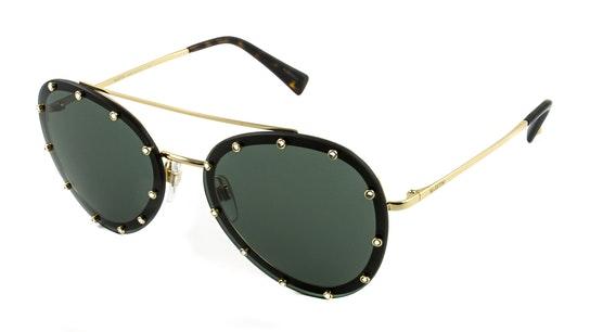 VA 2013 Women's Sunglasses Green / Gold