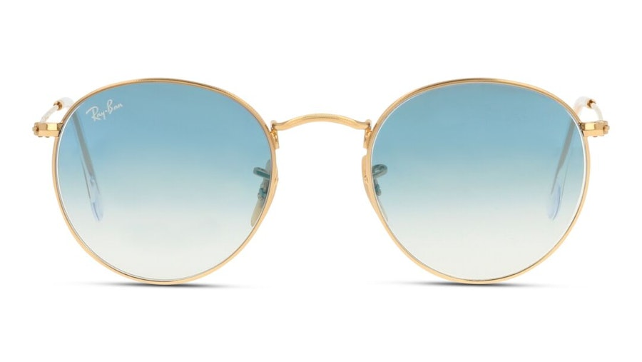 Ray-Ban Round Metal RB 3447N Men's Sunglasses Blue/Gold