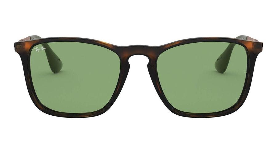 Ray-Ban Chris RB 4187 (6393/2) Sunglasses Green / Tortoise Shell