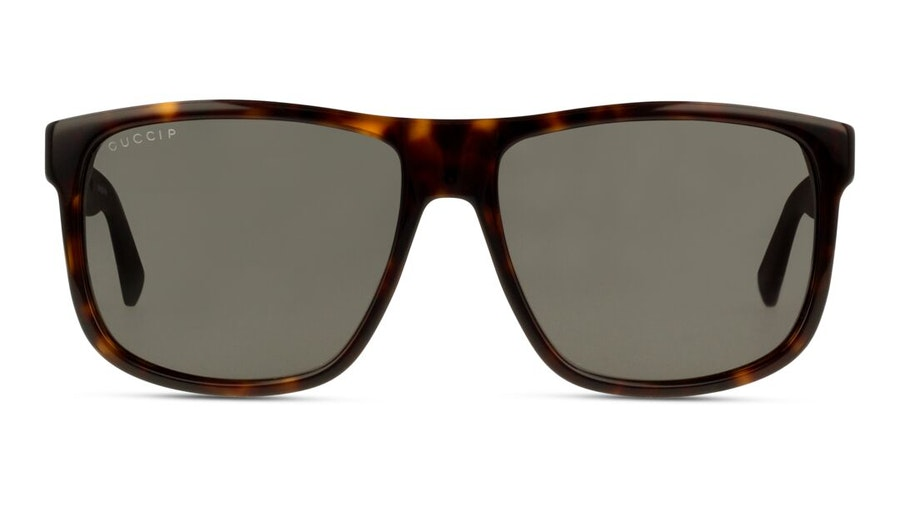 Gucci GG 0010S (003) Sunglasses Grey / Tortoise Shell