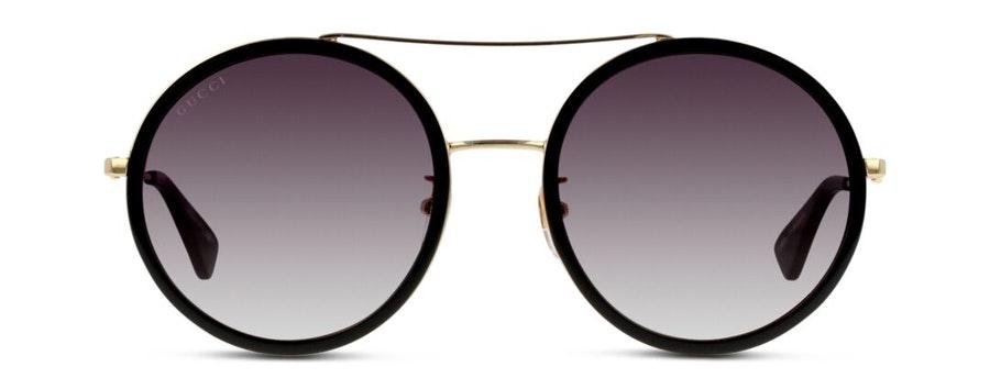 Gucci GG 0061S (001) Sunglasses Grey / Gold