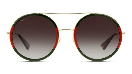 GG 0061S Unisex Sunglasses Green / Gold