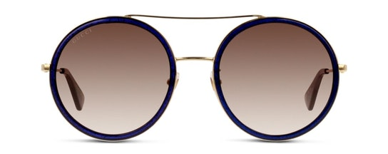 GG 0061S Women's Sunglasses Brown / Blue