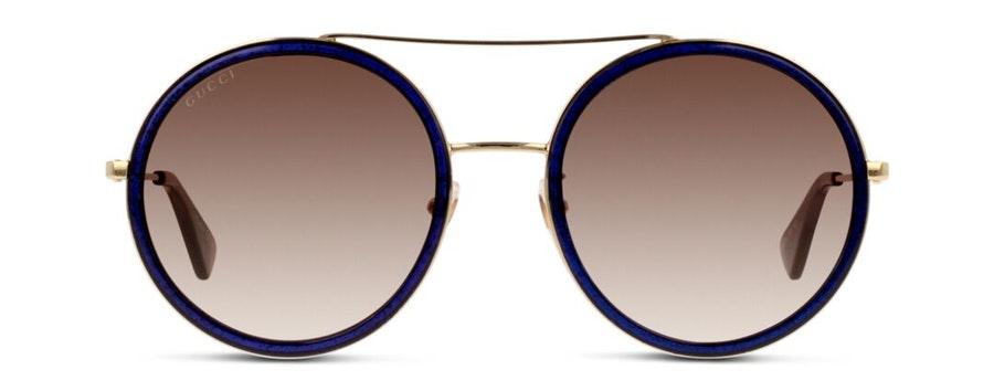 Gucci GG 0061S (005) Sunglasses Brown / Blue