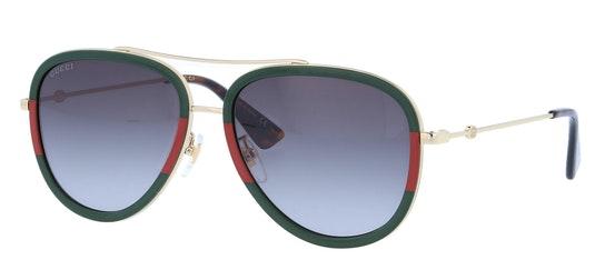 GG 0062S Unisex Sunglasses Green / Gold
