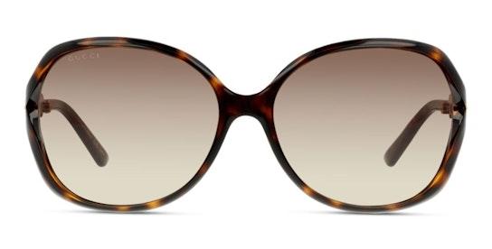 GG 0076S Women's Sunglasses Brown / Tortoise Shell