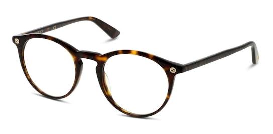 GG 0121O Men's Glasses Transparent / Brown