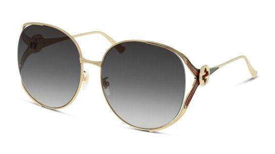 GG 0225S Women's Sunglasses Grey / Gold