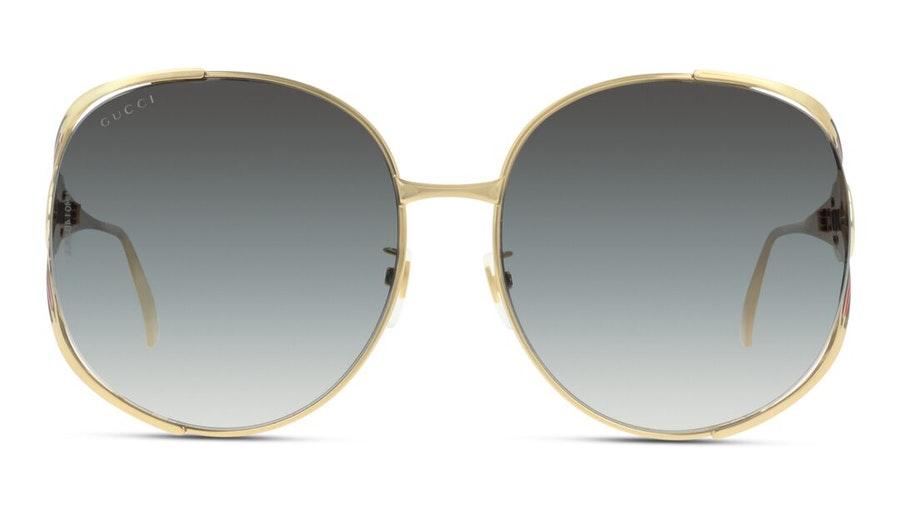 Gucci GG 0225S Women's Sunglasses Grey / Gold