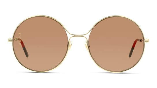 GG 0395S Women's Sunglasses Brown / Gold