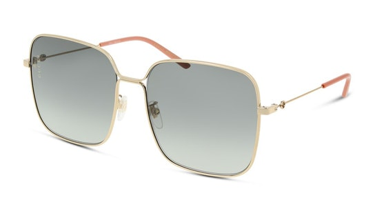 GG 0443S Women's Sunglasses Grey / Gold