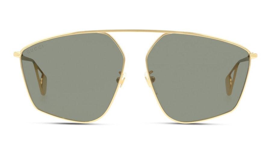 Gucci GG 0437SA Women's Sunglasses Grey / Gold