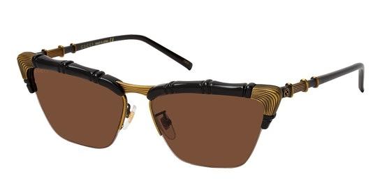 GG 0660S Women's Sunglasses Brown / Black