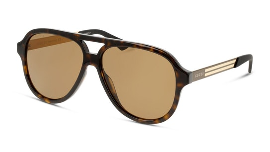 GG 0688S Men's Sunglasses Brown / Grey