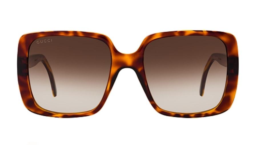 Gucci GG 0632S Women's Sunglasses Brown / Tortoise Shell