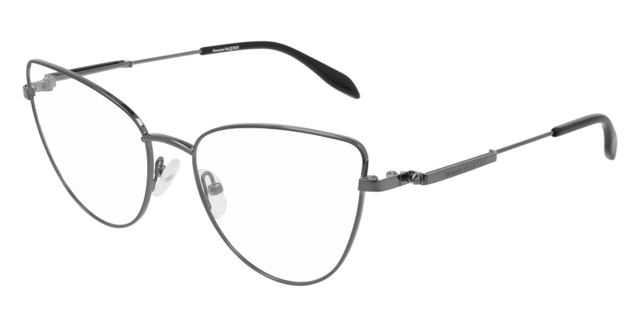 Alexander McQueen AM 0268O Women's Glasses Grey