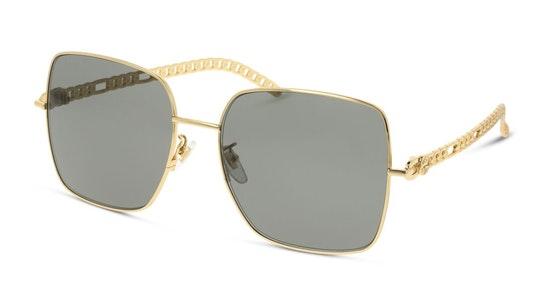 GG 0724S Women's Sunglasses Grey / Gold