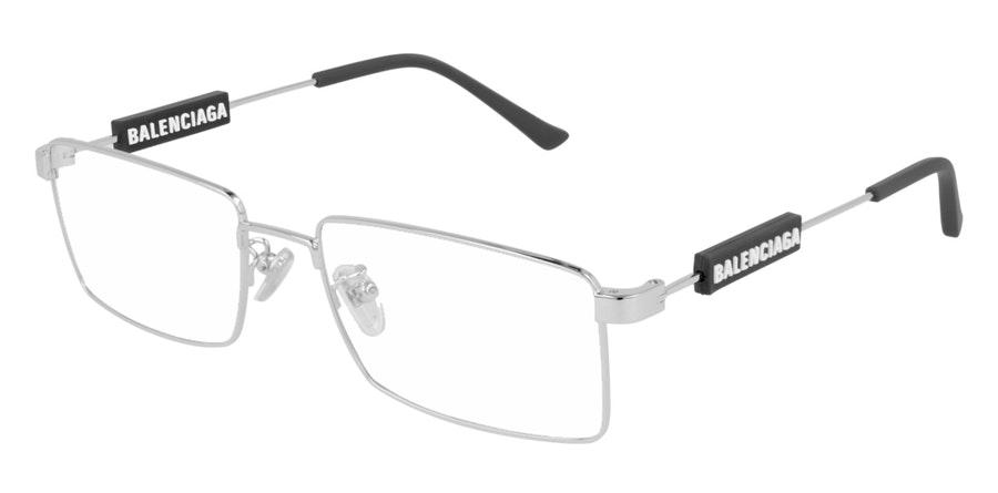 Balenciaga BB 0118O (Large) Men's Glasses Silver