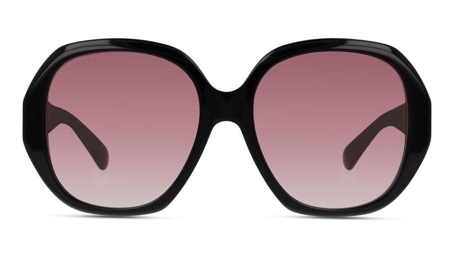 Gucci GG 0796S (002) Sunglasses Burgundy / Black