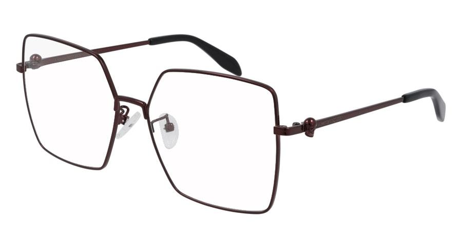 Alexander McQueen AM 0276O (Large) Women's Glasses Burgundy