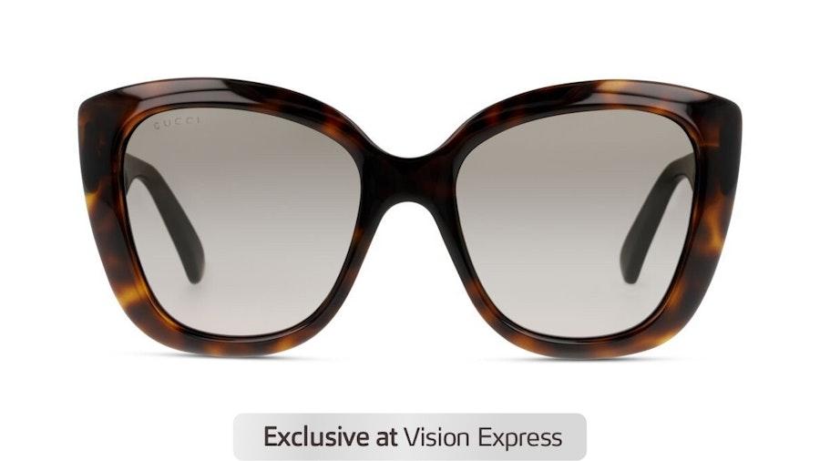 Gucci GG 0860S Women's Sunglasses Brown / Tortoise Shell