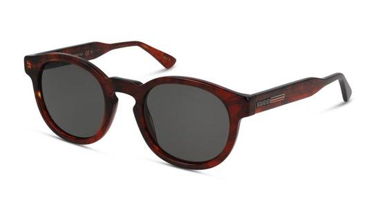 GG 0825S Unisex Sunglasses Grey / Havana