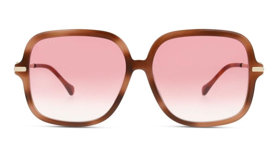 Gucci GG 0884SA Women's Sunglasses Red / Gold