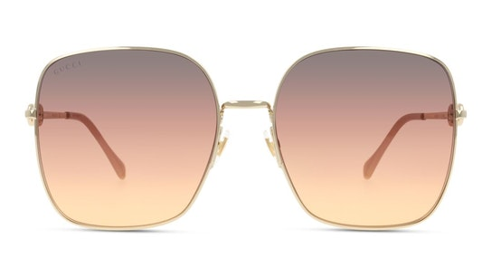 GG 0879S Women's Sunglasses Brown / Rose Gold