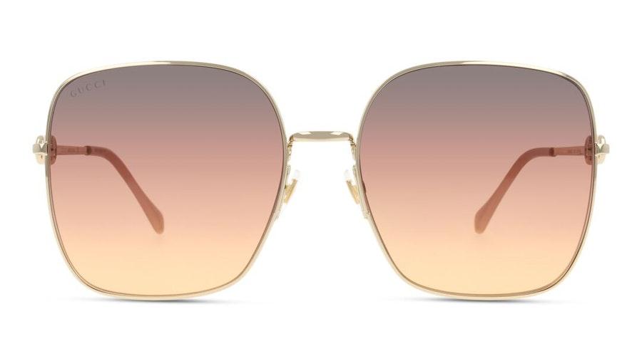 Gucci GG 0879S (004) Sunglasses Brown / Rose Gold
