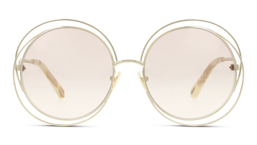 Chloe Carlina CH 0045S Women's Sunglasses Brown / Gold