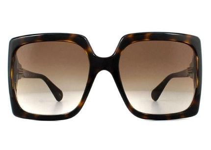 GG 0876S Women's Sunglasses Brown / Yellow