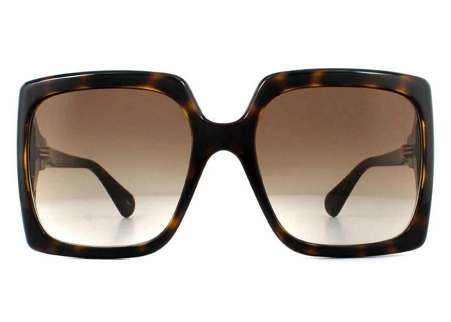 Gucci GG 0876S Women's Sunglasses Brown / Yellow