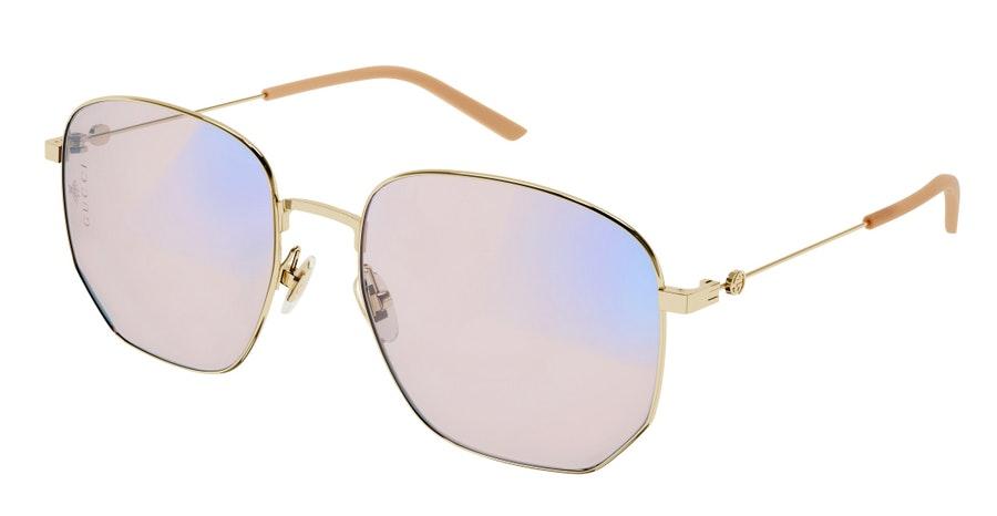 Gucci Blue & Beyond GG 0396S (004) Sunglasses Pink / Gold