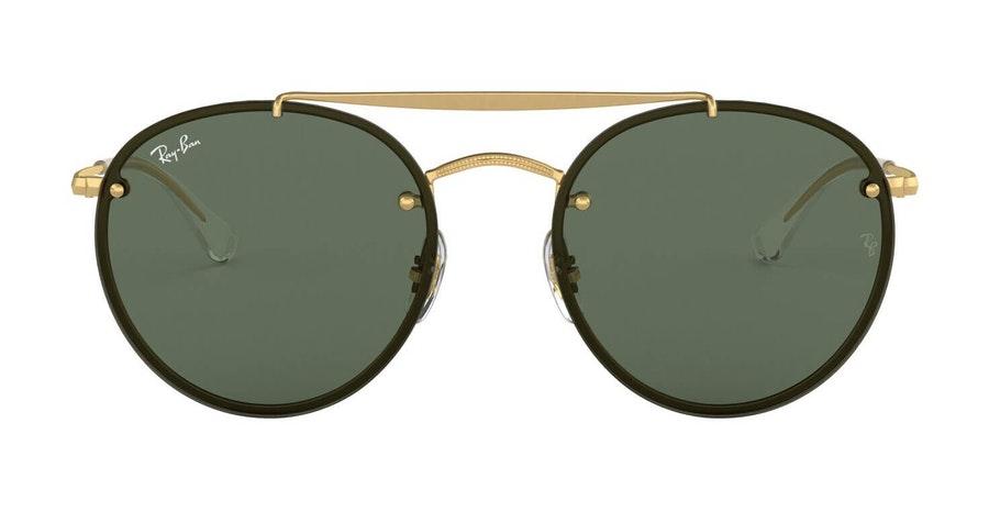 Ray-Ban Blaze Round Doublebridge RB 3614N (914071) Sunglasses Green / Gold