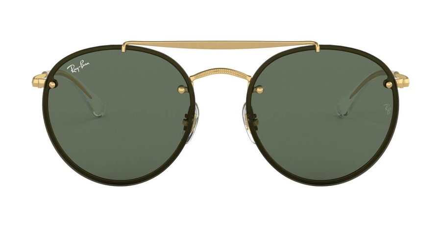 Ray-Ban Blaze Round Doublebridge RB 3614N Men's Sunglasses Green/Gold