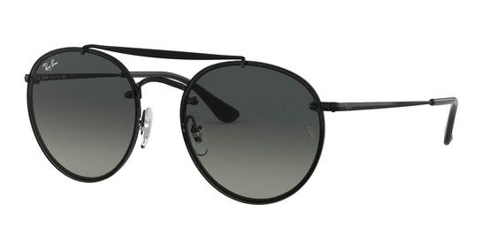 Blaze Round Doublebridge RB 3614N Men's Sunglasses Grey / Black