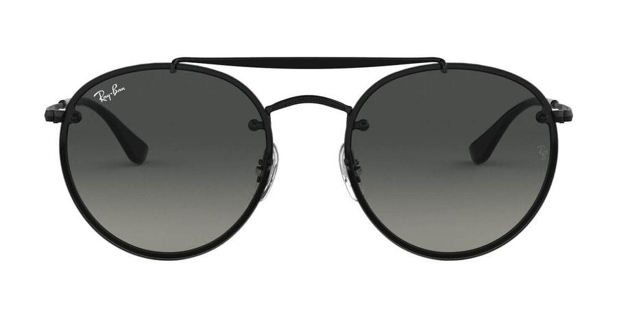 Ray-Ban Blaze Round Doublebridge RB 3614N (148/11) Sunglasses Grey / Black