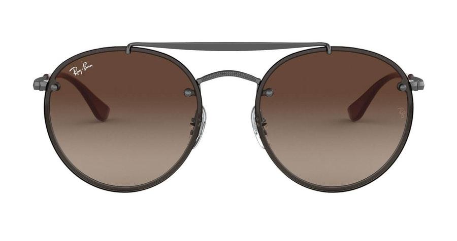 Ray-Ban Blaze Round Doublebridge RB 3614N Men's Sunglasses Brown / Grey