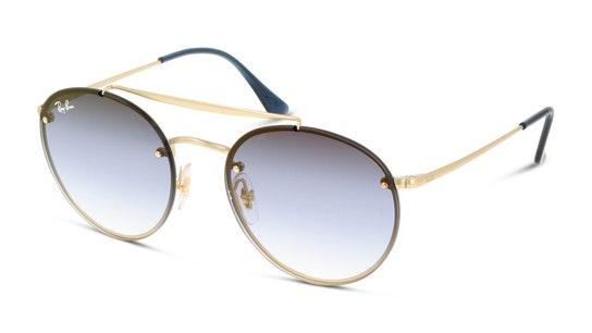 Blaze Round Doublebridge RB 3614N Unisex Sunglasses Blue / Gold