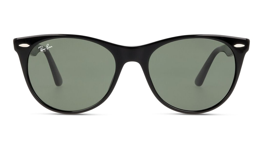 Ray-Ban Wayfarer II RB 2185 (901/31) Sunglasses Green / Black