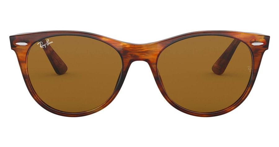 Ray-Ban Wayfarer II RB 2185 (954/33) Sunglasses Brown / Tortoise Shell