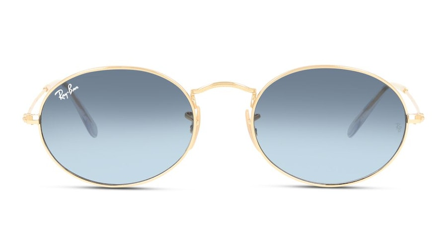 Ray-Ban Oval RB 3547 Unisex Sunglasses Blue/Gold