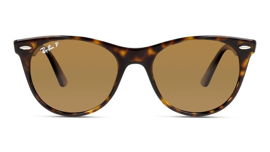 Ray-Ban Wayfarer II RB 2185 (902/57) Sunglasses Brown / Havana