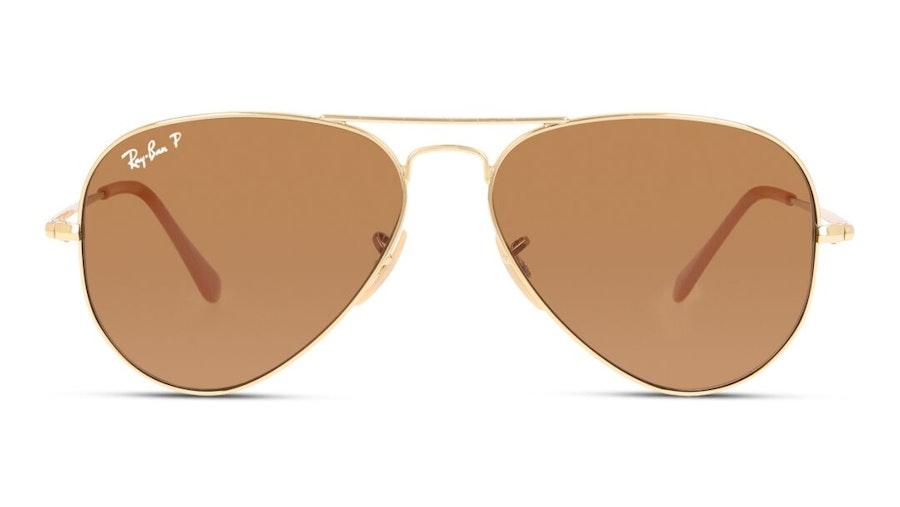 Ray-Ban Aviator Metal II RB 3689 Unisex Sunglasses Brown / Gold