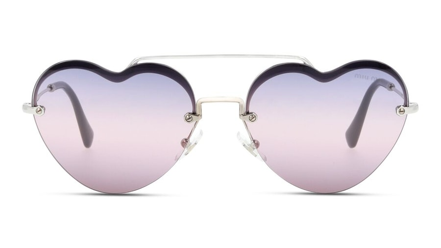 Miu Miu MU 62US Women's Sunglasses Pink / Silver