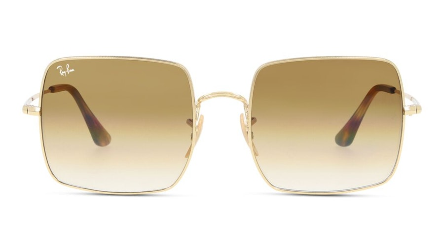 Ray-Ban Square RB 1971 Unisex Sunglasses Brown / Gold