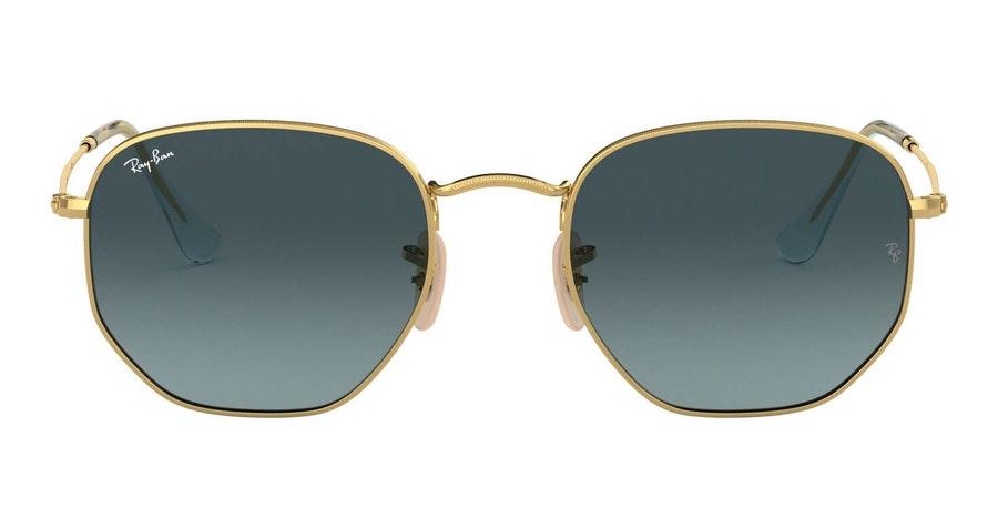 Ray-Ban Hexagonal RB 3548N (91233M) Sunglasses Grey / Gold