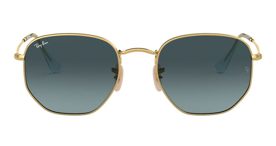 Ray-Ban Hexagonal RB 3548N Men's Sunglasses Grey/Gold
