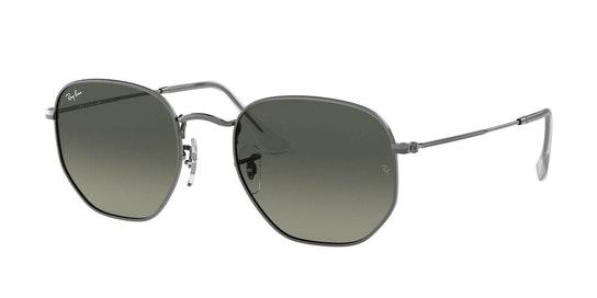 Hexagonal RB 3548N Men's Sunglasses Grey / Grey