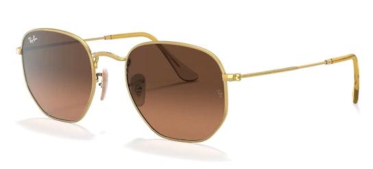 Hexagonal RB 3548N Men's Sunglasses Brown / Gold